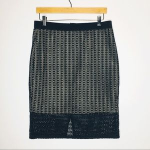 Ann Taylor Pencil Skirt Womens size 8 Black